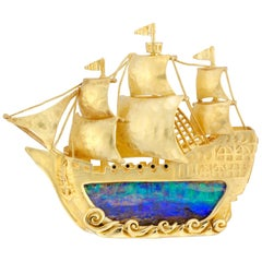Gold and Opal Galleon Made