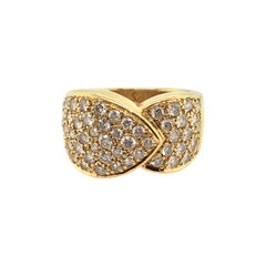 Gold and Pave Diamond Ring