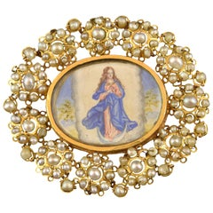 Gold and Pearls Devotional Pendant, 18th Century