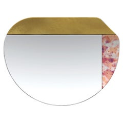 Gold and Pink WG.C1.E Hand-Crafted Wall Mirror