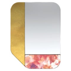 Gold and Pink WG.C1.F Hand-Crafted Wall Mirror