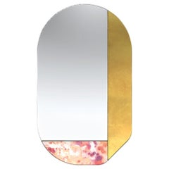 Gold and Pink WG.C1.G Hand-Crafted Wall Mirror