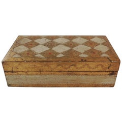Gold and Red Florentine Jewelry Box