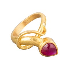 Gold and Ruby French Ring by Bernardeau