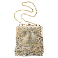 """""""Gold"""" and """"Silver"""" Chain Link Evening Bag"""