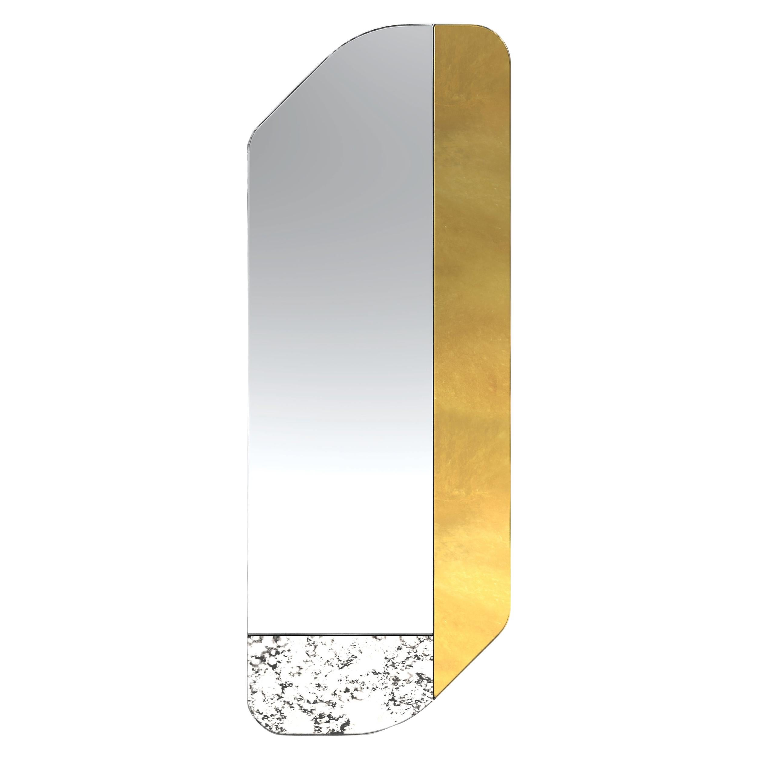 Gold and Speckled WG.C1.D Hand-Crafted Wall Mirror