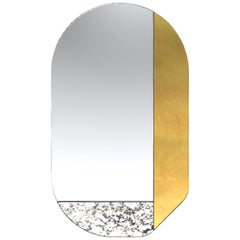 Gold and Speckled WG.C1.G Hand-Crafted Wall Mirror