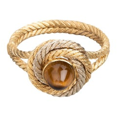 Gold and Tiger Eye Cable Bracelet