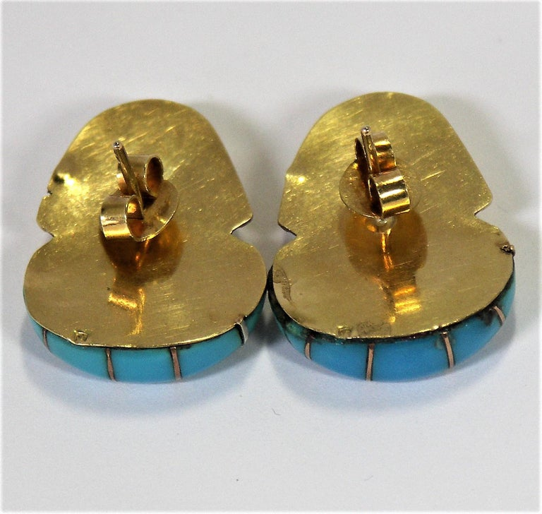 Women's Gold and Turquoise