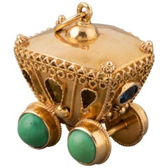 Gold and Turquoises Italian Vintage Charm