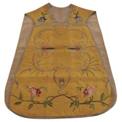 Gold and Yellow Embroidered Antique Chasuble