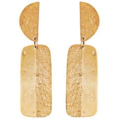 Gold Articulated Drop Earrings by Allison Bryan