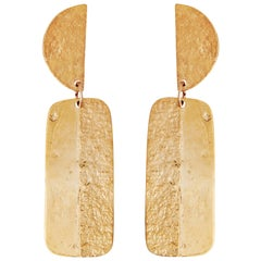 Gold Articulated Earrings by Allison Bryan