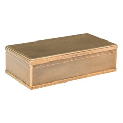 Gold Asprey 9 Carat Gold Cigar Box