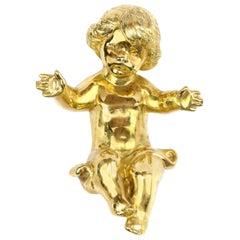 Gold Baby Jesus Pendant 3.6 Ounces