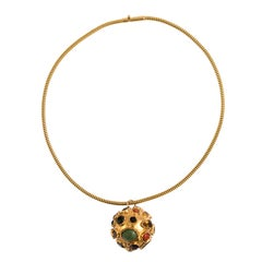 Gold Ball Charm Necklace