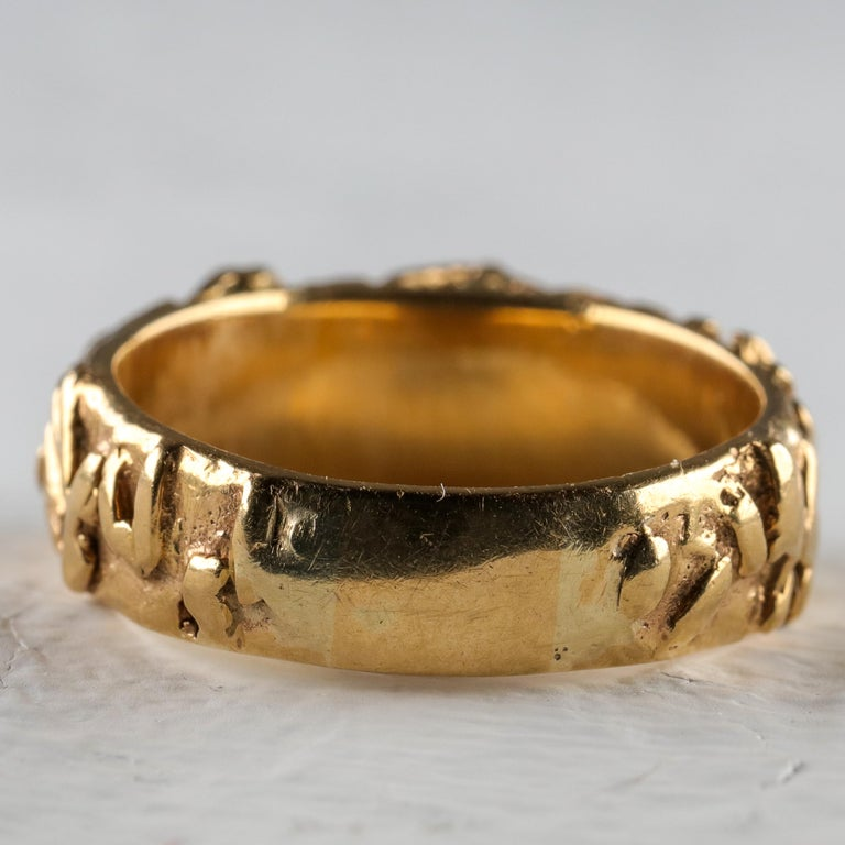 Gold Band with Persian Turquoise For Sale 1