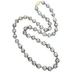 Gold Baroque Tahitian Pearl Necklace