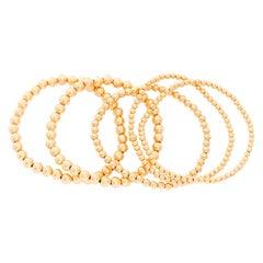 Gold Bead Ball Stretch Bracelets