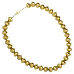 Gold Bead Necklace by Kieselstein Cord