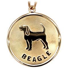 Gold Beagle Charm