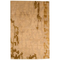 Gold Beige AD4 Modern Rug