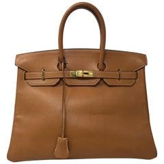 Gold Birkin 35 Bag