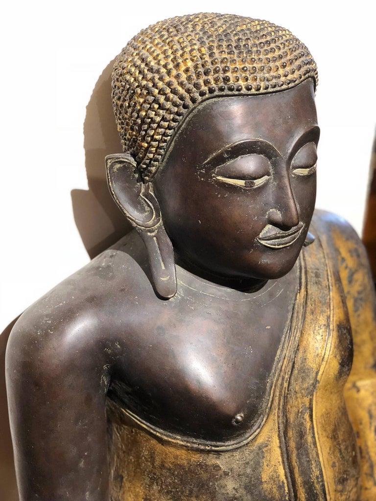 Gold Black Buddha Statue Bronze Thailand For Sale 2