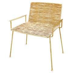 Gold Boy Garden Chair in Gold Titanium Finish - Modern-Classy Look Outdoor Chair
