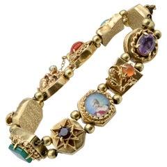 Gold Bracelet Bohemian Slider 14 Karat