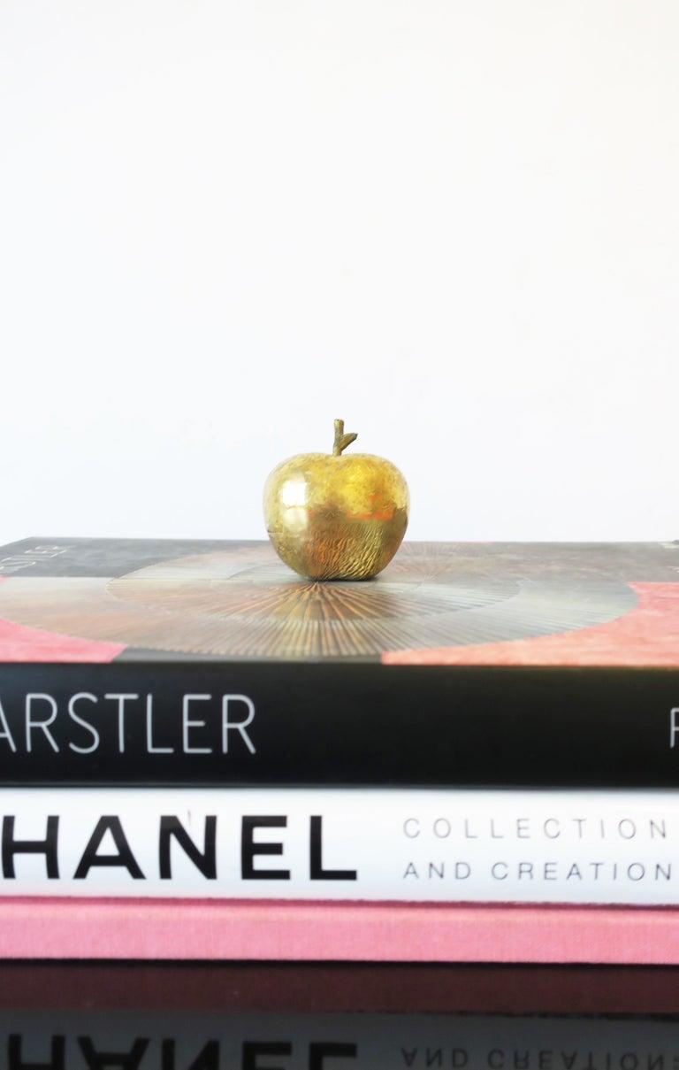 Gold Bronze Apple Sculpture Decorative Object For Sale 1