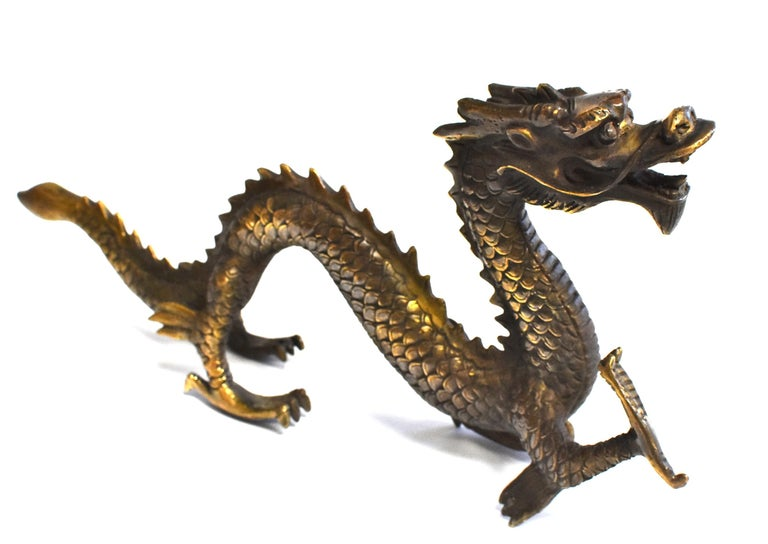 Qing Gold Bronze Dragon For Sale