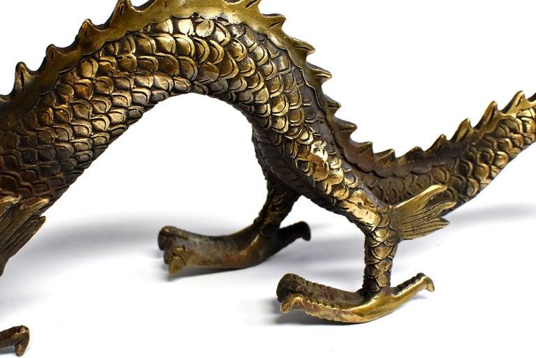 20th Century Gold Bronze Dragon For Sale