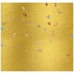 Gold Butterflies Wallpaper