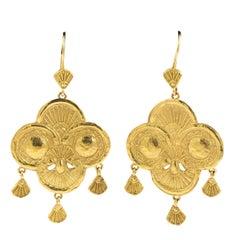 Gold Byzantine Style Earrings