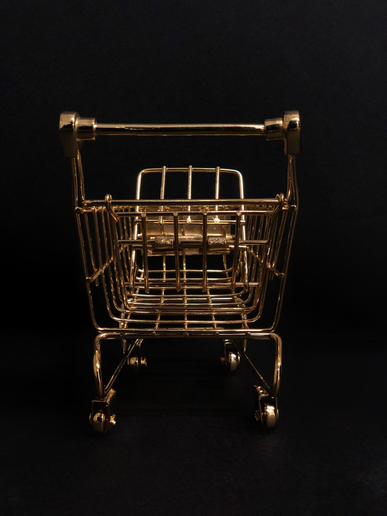 Hand-Crafted 'Gold Cart' 18 Karat Gold, Limited Edition of 25 For Sale