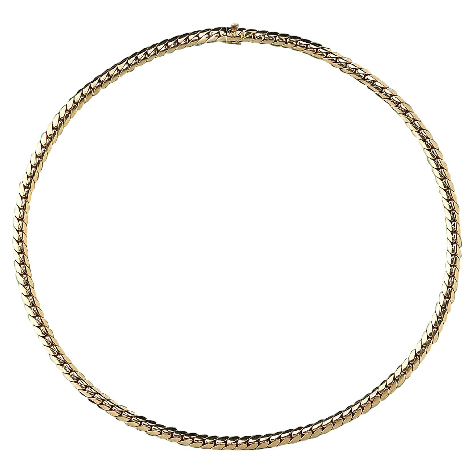Gold Cartier Curb Link Chain