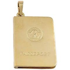 Gold Cartier French Passport Locket