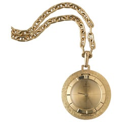 Gold Cartier Pocket or Pendant Watch