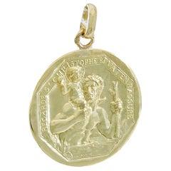 Gold Cartier St. Christopher Medal