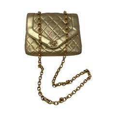 Gold Chanel Bag Lambskin Crossbody Bag