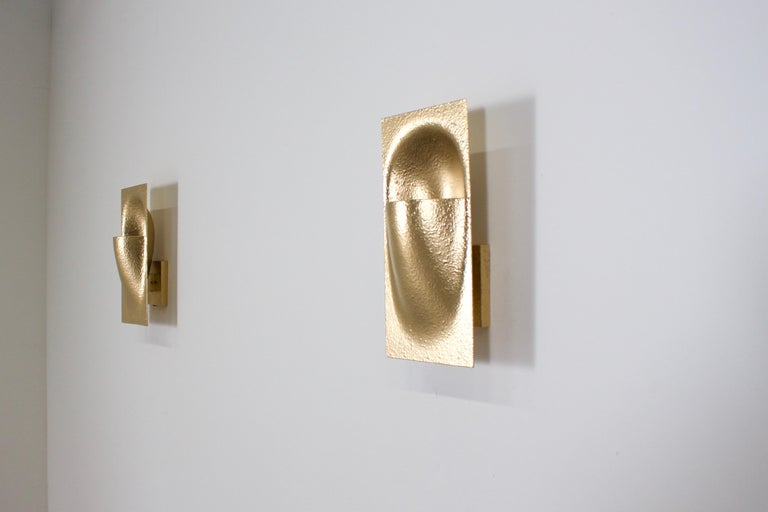 Gold Colored 'Balance' Sconces by Bertrand Balas for RAAK Amsterdam, 1972 In Excellent Condition For Sale In Echt, NL