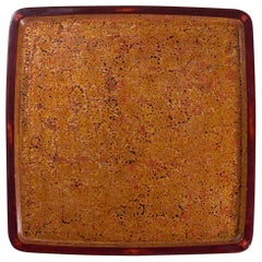 Gold Colored Wakasa Lacquer Tray