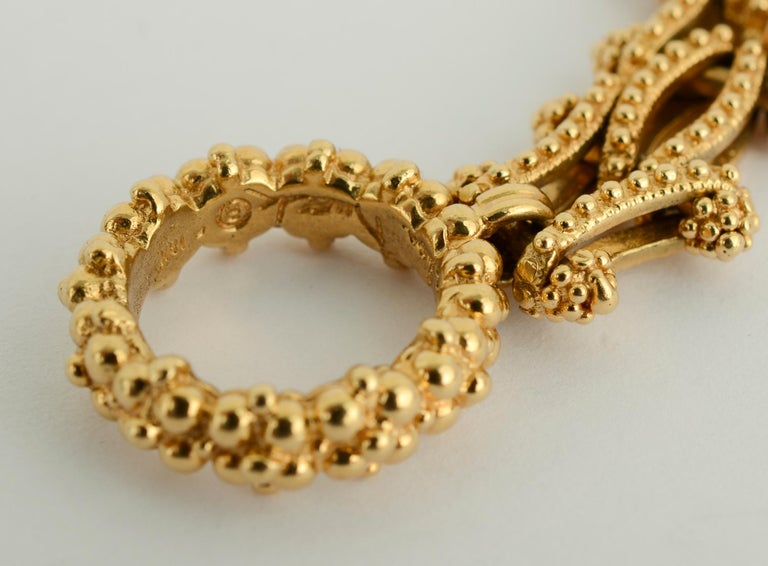 Gold Combinable Necklace and Bracelet For Sale 5
