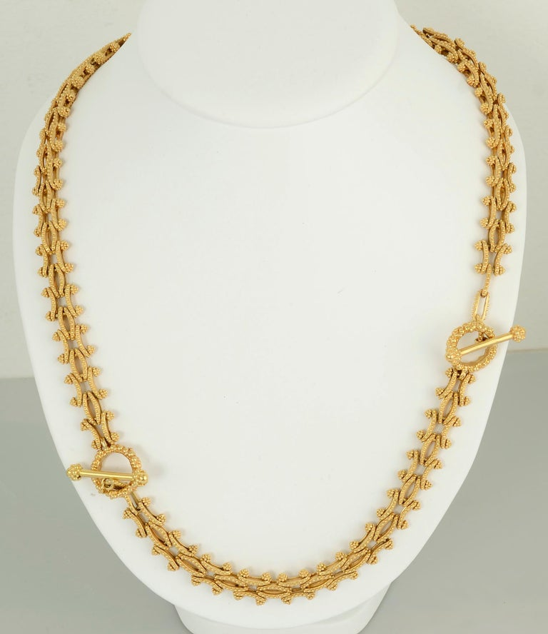 Modern Gold Combinable Necklace and Bracelet For Sale