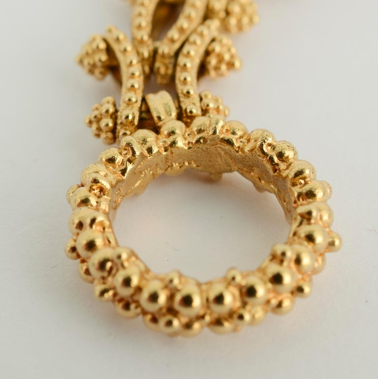Gold Combinable Necklace and Bracelet For Sale 1