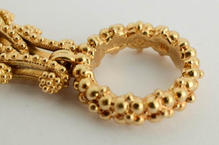 Gold Combinable Necklace and Bracelet For Sale 2