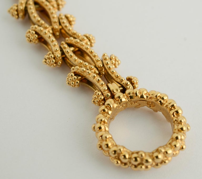 Gold Combinable Necklace and Bracelet For Sale 4