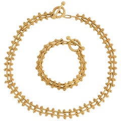 Gold Combinable Necklace and Bracelet
