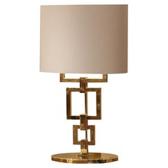 Gold Contemporary Table Lamp, Signature